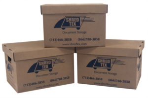 Cardboard boxes for document storage - ShredTex Houston