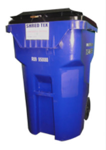 65 Gallon Mobil Security Bin - ShredTex Houston