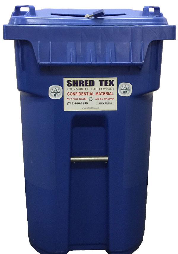 65 Gallon Mobil Security Bin - ShredTex Houston