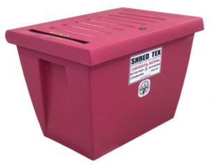 Personal Document Container Pink - ShredTex Houston